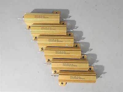 Lot Of 6 Dale Power Resistor Rer75fr100r 30w .1 - New
