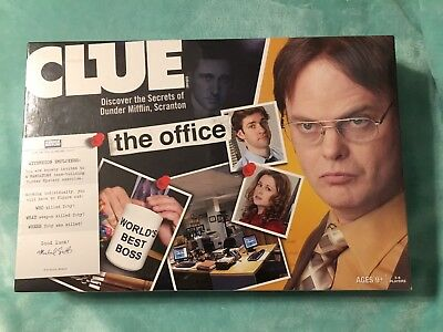 Clue The Office Edition Board Game, 2009 Dunder Mifflin Paper Company, SEALED](Office Party Games)