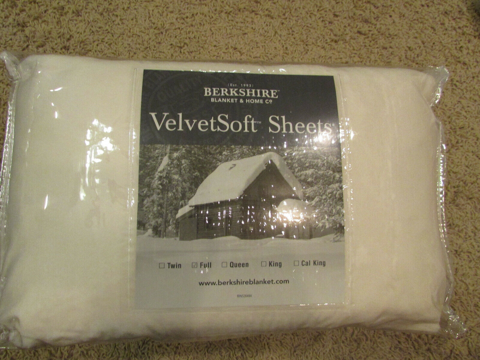 Berkshire VelvetSoft Sheet Set - Full Size - Cream Color - N