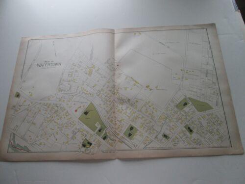 (1) ONE 1889 ANTIQUE MAP-MASSACHUSETTS, PART OF WATERTOWN--1;  G. WALKER