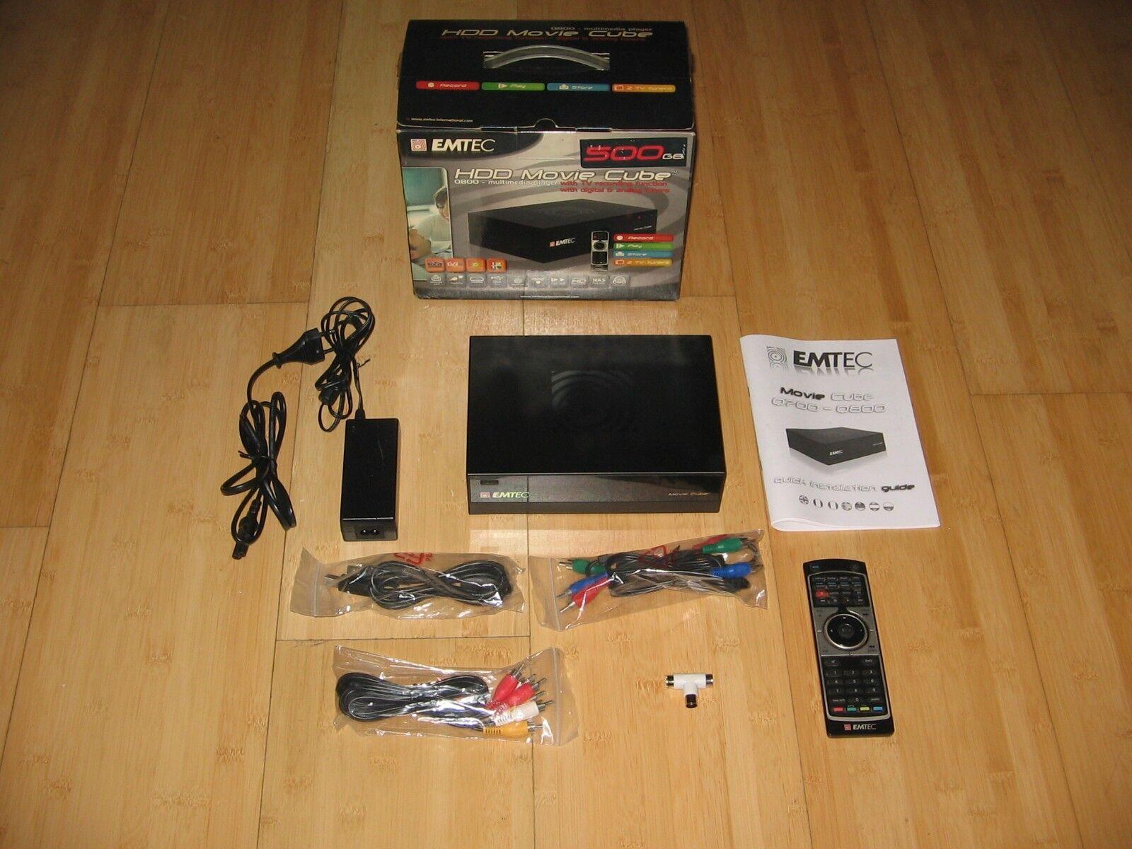 EMTEC HDD Movie Cube Q800 Multimedia-Player 500GB Festplatte Aufnahmefunktion