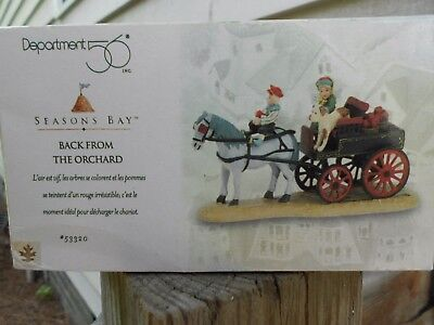 DEPT 56 SEASONS BAY Accessory BACK FROM THE ORCHARD NIB