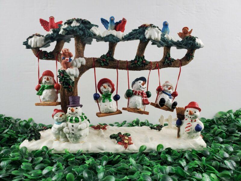 ☃️Beautiful Tree w/Snowmen on Swings Dayton Hudson Christmas Decor