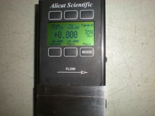 Alicat Scientific M-5SLPM-D Flow Meter with Wall Jack - Powers up as Shown