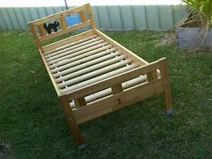 ..BOYS / CHILDREN - WOODEN BED and MATTRESS - plus 2 CHAIRS Hoxton Park Liverpool Area Preview