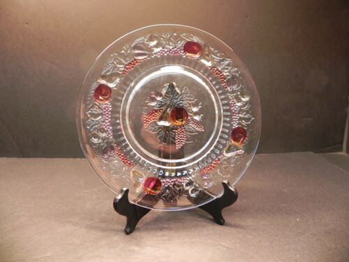 """Westmoreland Glass Embossed Fruit Della Robbia 9 1/8"""" Luncheon Plate  *"""