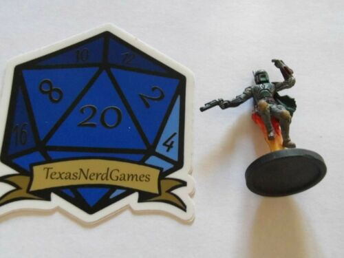 x1 Boba Fett #42 Star Wars Miniatures Rebel Storm TexasNerdGames