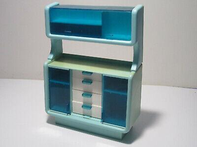 Vintage (70s) Barbie Dream House Blue China Hutch/Cabinet