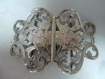 Edwardian Silver Nurses Belt Buckle James Griffiths Birmingham 1902 29g 8.6cm
