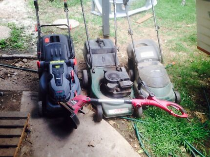 3x mowers and one whipper snipper
