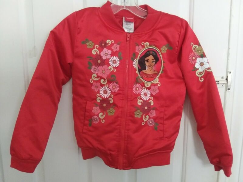 Childs Mulan Bomber Jacket size 7/8 Meduim Red