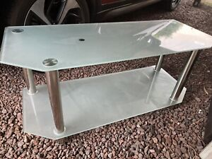 Glass TV Stand Unit in Excellent Condition