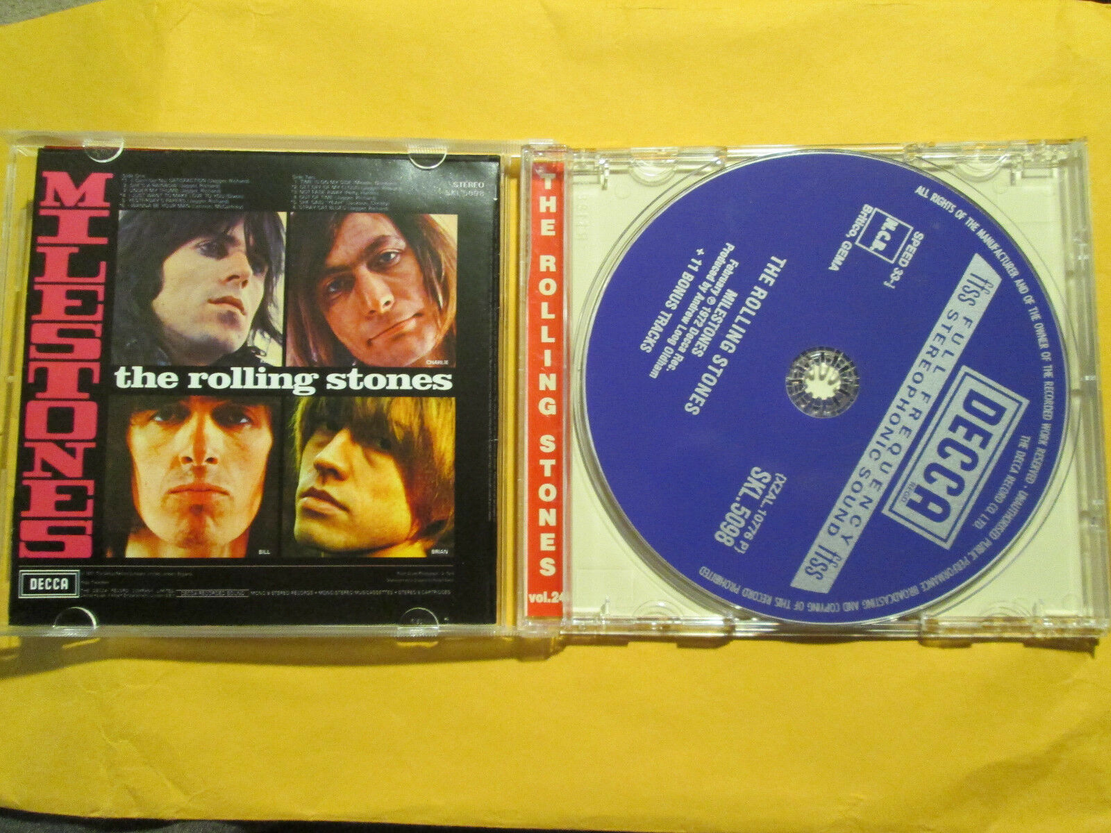 Rolling Stones Milestones Bonus Tracks Mini Poster CD Maximum EX  - $99.99