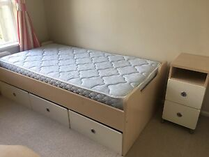 Single bed and desk from Mobler, pick up only