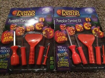 (2 PACK) Pumpkin Masters Pumpkin Carving Kit with 10 Patterns, 5 Tools Halloween (Pumpkin Carving Halloween Patterns)