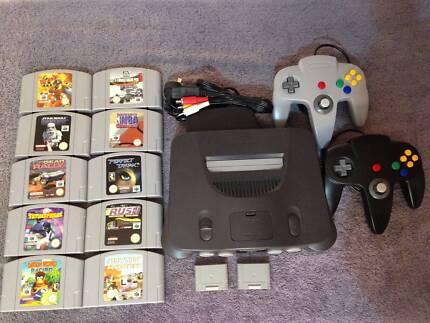 Nintendo64 N64 10 Games 2 Controls 2 Memory packs $380