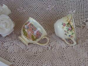 VINTAGE ROYAL WINTON GRIMWADES ENGLAND 2 ORPHAN REPLACEMENT CUPS Loganholme Logan Area Preview