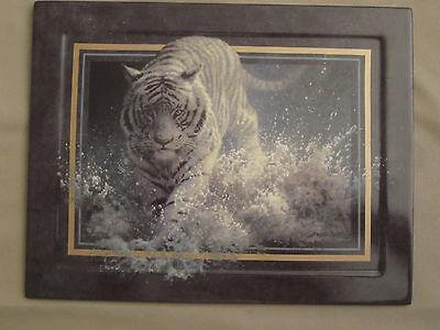 WHITE TIGER collector plate WHITE LIGHTNING Seerey-Lester VANISHING TREASURES