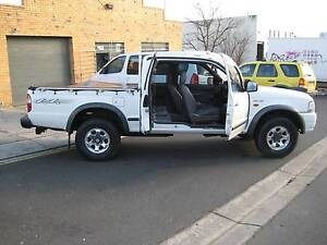 2004 Ford Courier Ute 4X4 2.5 DIESEL MANUAL REG 5/17 196,345 RWC Heidelberg West Banyule Area Preview