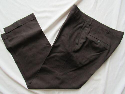 Vtg 50s Hollywood Waist Soft Wool Dress Pants 33.5x29 Suit VLV Cuffed Fancy