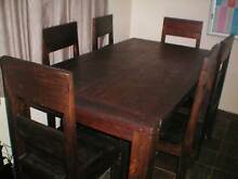 SOLID TIMBER TABLE AND CHAIRS Manly West Brisbane South East Preview