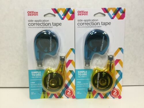 Office Depot Correction Tape with Mini-Roller Head, 32.8Ft, White, 4 Count