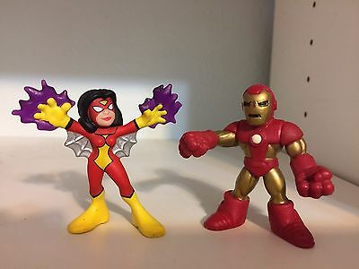 Hasbro Marvel Super Hero Squad SPIDER-WOMAN & IRON MAN  Avengers Loose Figures