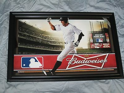 Budweiser MLB Baseball Mirror beer sign bar Man Cave Major League Bud Light Grab