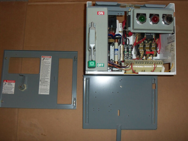SQUARE D MODEL 6 SIZE 1 STARTER 30 AMP FUSIBLE MCC MCCB BUCKET HOA