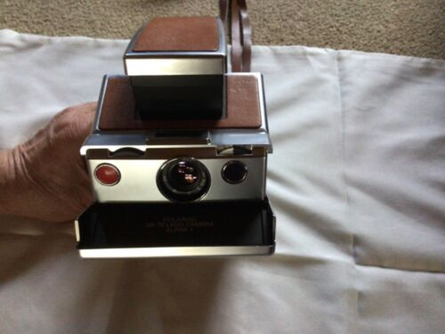 Vintage Polaroid SX-70 Land Camera Alpha 1 & Electronic Strobe Unit