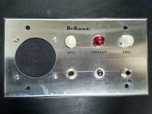 Vintage DuKane 4A335 B Intercom Call Wall Plate, Hospital?