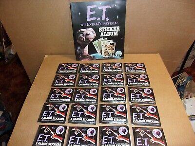 New 1982 Topps E.T. The Extra-Terrestrial Sticker Album + 20 Sticker Card Packs