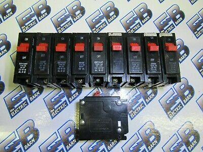 Bryant Br120 1 Pole 20 Amp 120240 Volt Plug In Circuit Breaker- Lot Of 10