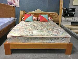 DELIVERY TODAY STRONG WOODEN Queen bed &SlumberCare mattress SALE Belmont Belmont Area Preview