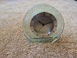 Bulova B2842 Accolade Table Top  Glass Clock - New