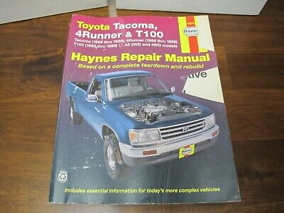 Toyota Tacoma 1995-2004 Haynes Manuals Repair Manual -4Runner - T100