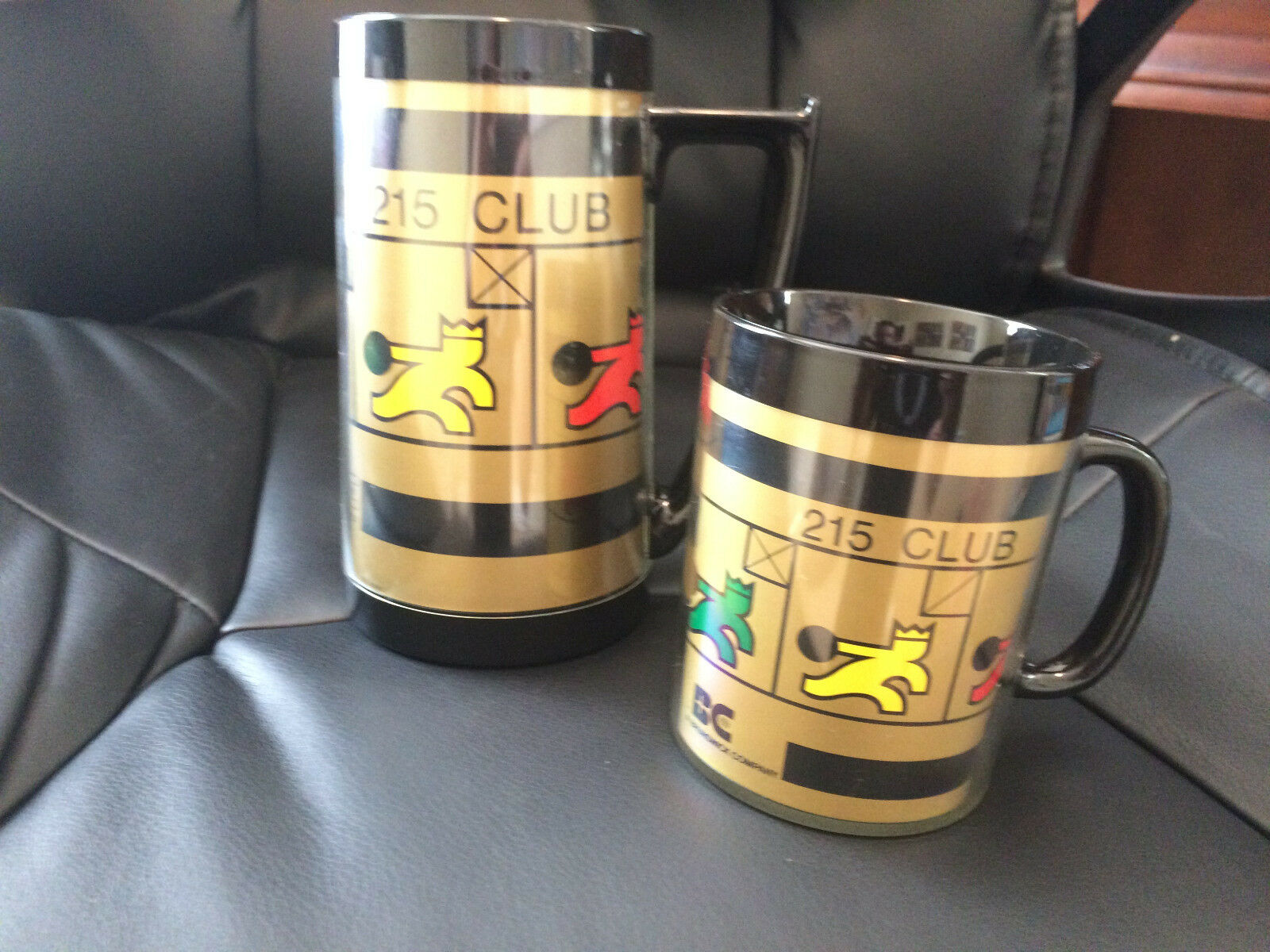 (2) Brunswick 215 Club Thermo-serv Mugs Cups Steins Usa Bowling