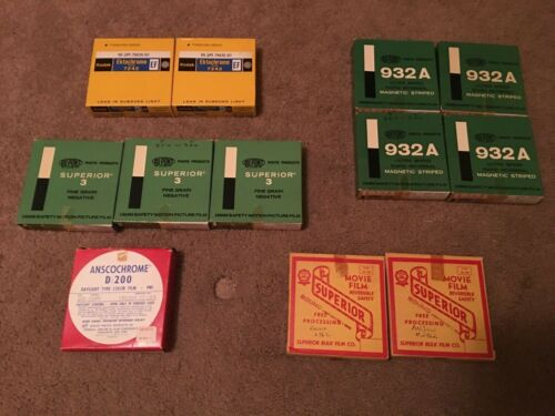 11 Boxes/Canisters Unused 16mm Film (Expired)