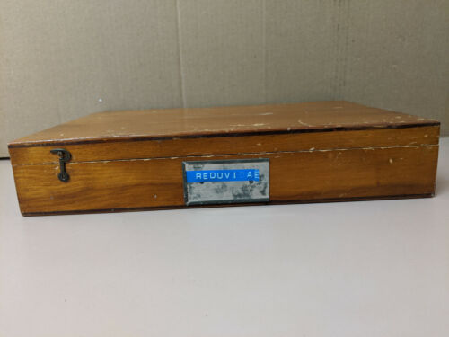 Vintage Wooden Insect Collection Display Box Entomology Display Case 13x9x2.5