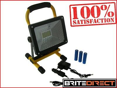 30LED FLOODLIGHT 30W FLOOD LIGHT OUTDOOR GARAGE RECHARGEABLE WORK IP65 (Best Portable Flood Light)