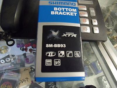 SHIMANO XTR BB93 EXTERNAL BEARING BICYCLE BOTTOM BRACKET INCLUDES TL-FC24