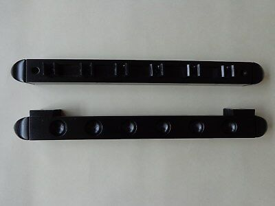 SNOOKER/POOL WOOD WALL MOUNTING CUE RACK-BLACK-HOLDS 6 CUES