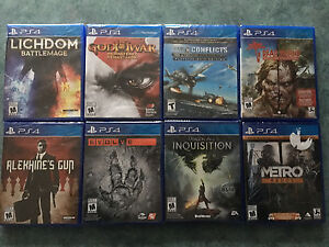 20 brand new sealed PS4 games