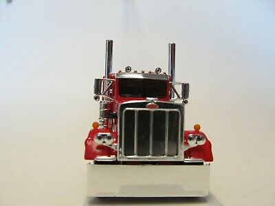 DCP FIRST GEAR 1/64 SCALE 359 PETERBILT SMALL BUNK, RED & CHROME 3