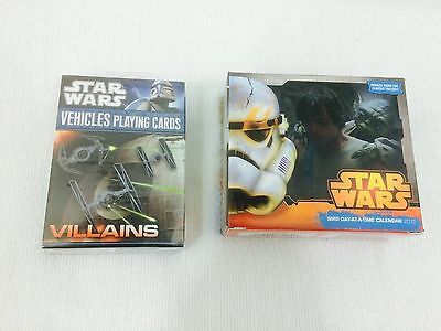 Star Wars  Villian Playing Cards   2015 Mini Day At A Time Calendar
