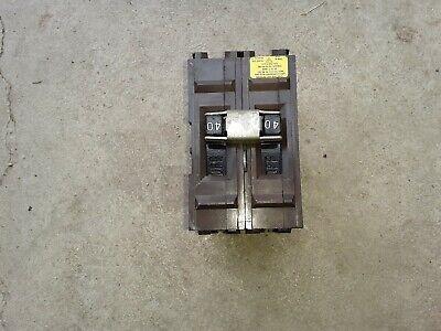 1 Wadsworth 2 Pole 40 Amp Circuit Breaker
