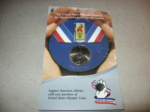 1995-S United States Olympic Commemorative Clad Baskeball Half Dollar BU On Card