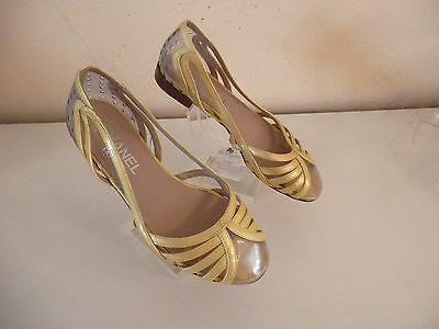 Chanel - sandales ballerines  - pointure 35,5 - cuir et plastique -  authentique