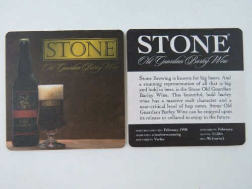 Beer Bar Coaster: STONE Brewery Old Guardian Barley Wine ~ Escondido, CALIFORNIA