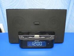 Sony Speaker Dock AM/FM Clock Radio 30-Pin iPod/iPhone Dock Audio Docking System